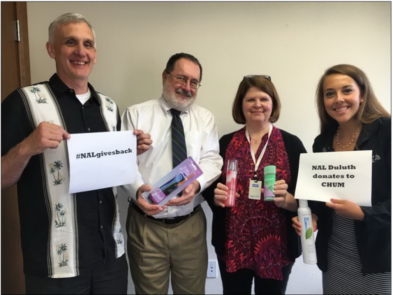 Nal Donates Hygiene Items To Chum Nystrom Counseling