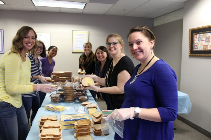 Nal Office Managers Make 700 Sandwiches For Those In Need Nystrom