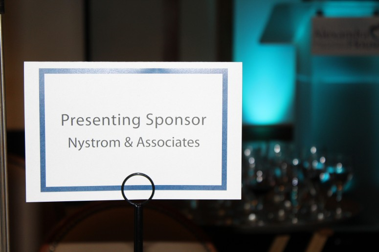 On March 5th Nystrom Associates Was The Presenting Sponsor For